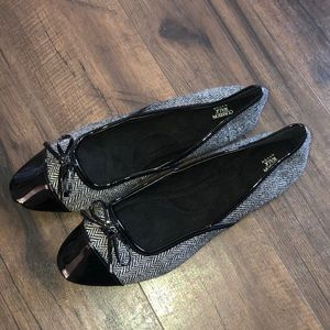 Avon Shoes - Avon Cushion Walk Herringbone Flats